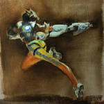 Oil painting - Tracer (Overwatch)