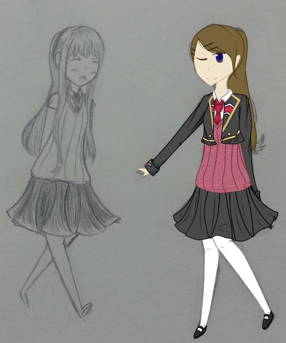WIP - APH Elementary App - Olivia by nadeshikofan