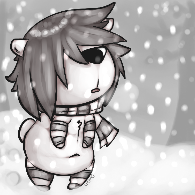 A lone snowman by darkmagician1212