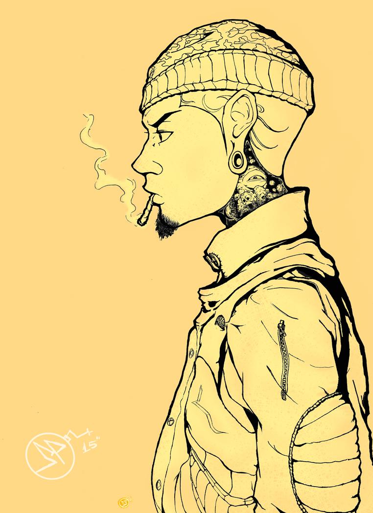That guy smokin cigaweed!! by TrakZ385