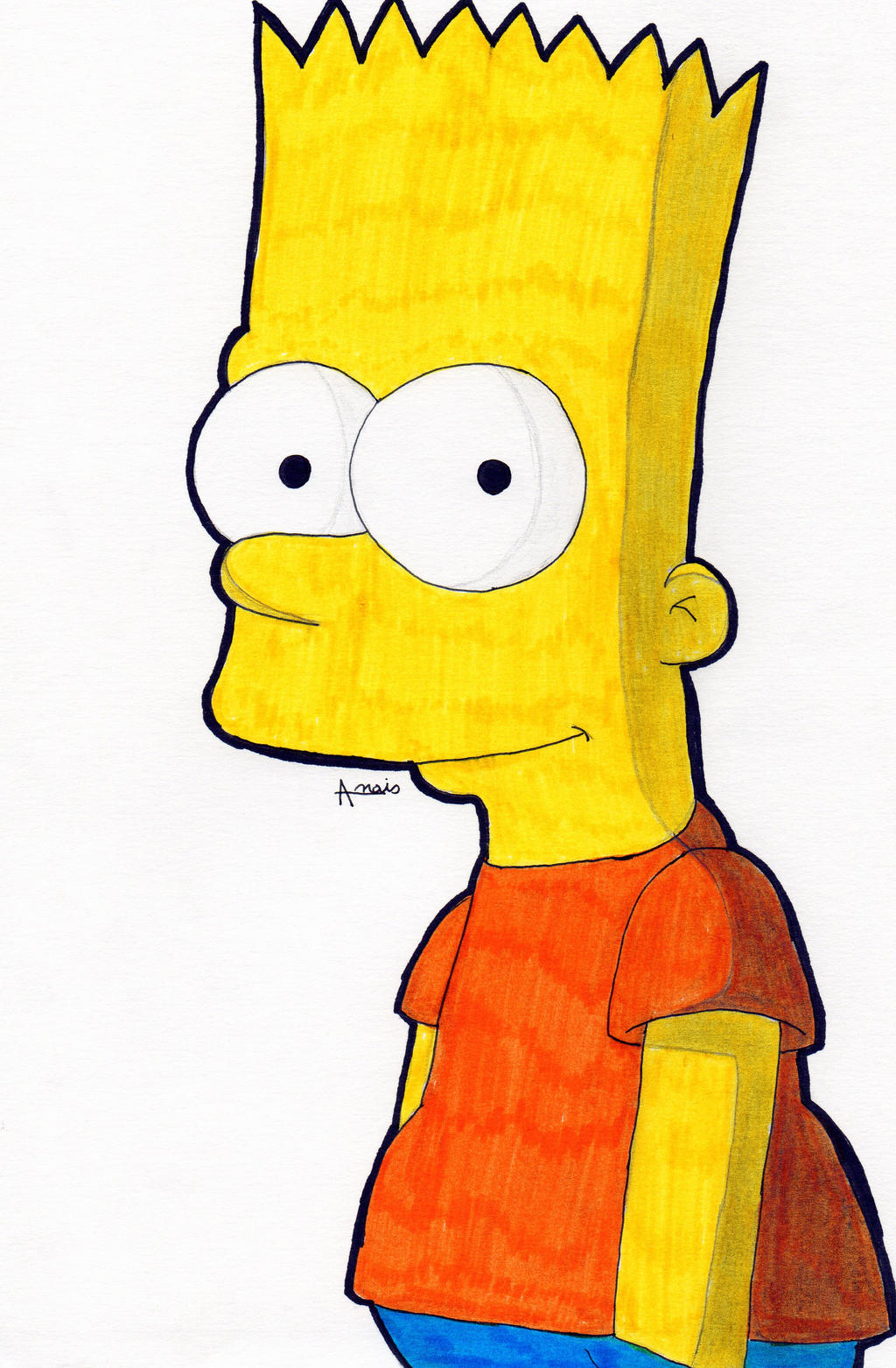 Bart The Simpsons Color By Chemicalgirl7 On Deviantart Bart Color