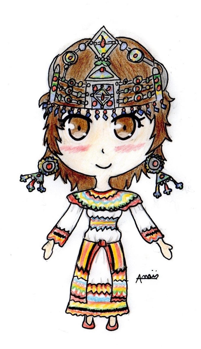 Traditional Kabyle Dress by Chemicalgirl7