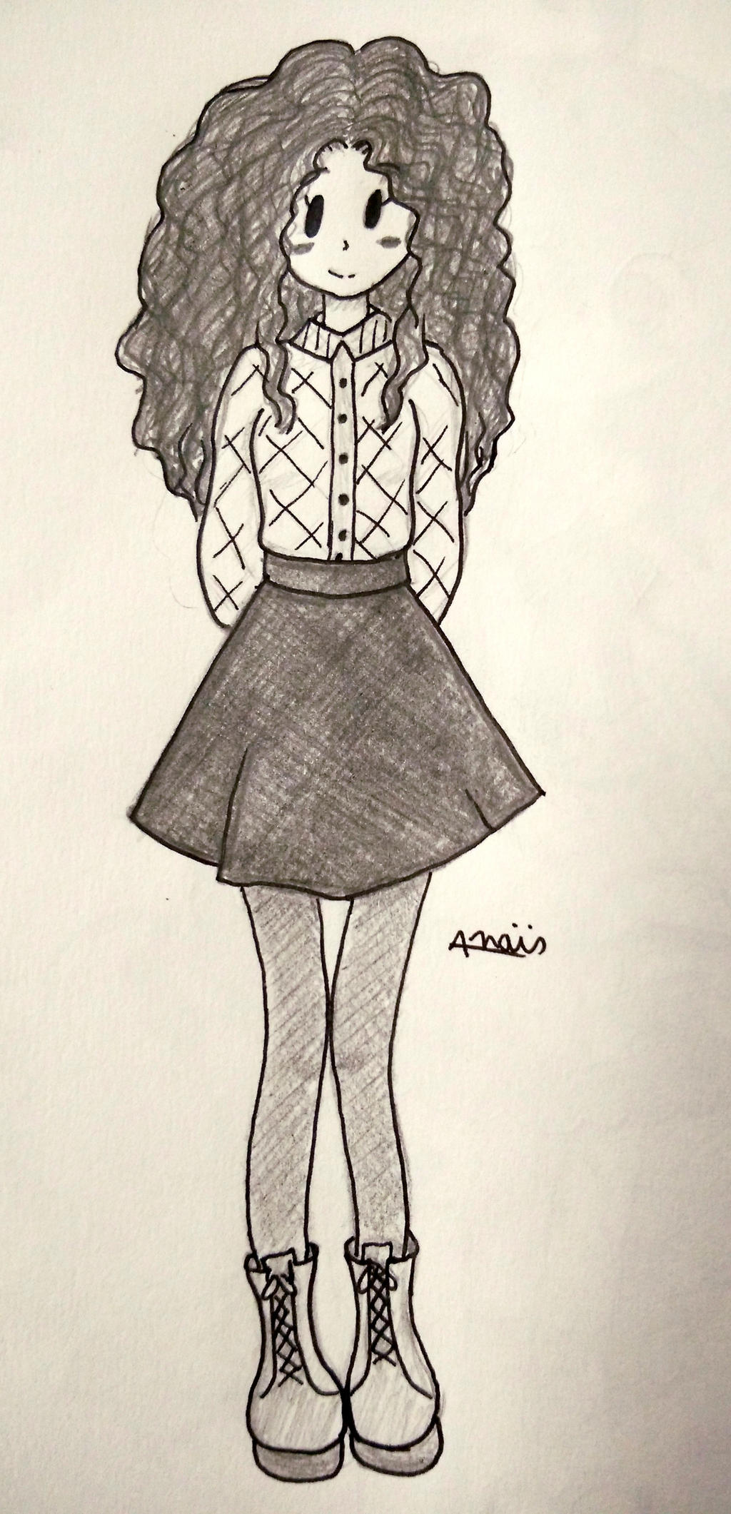 Curly Hair Sketch by Chemicalgirl7 on DeviantArt