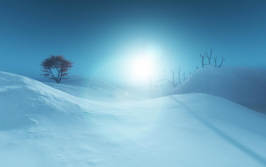 winter by Hythamkalefe