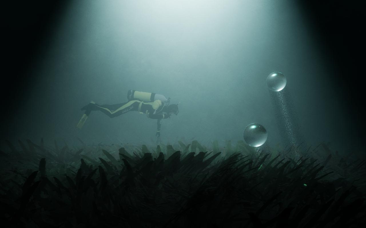 Night Diving by Hythamkalefe