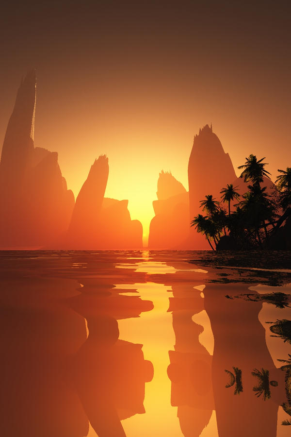 Island by Hythamkalefe