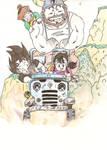 Drawings - Dragon Ball Z - Family Car's