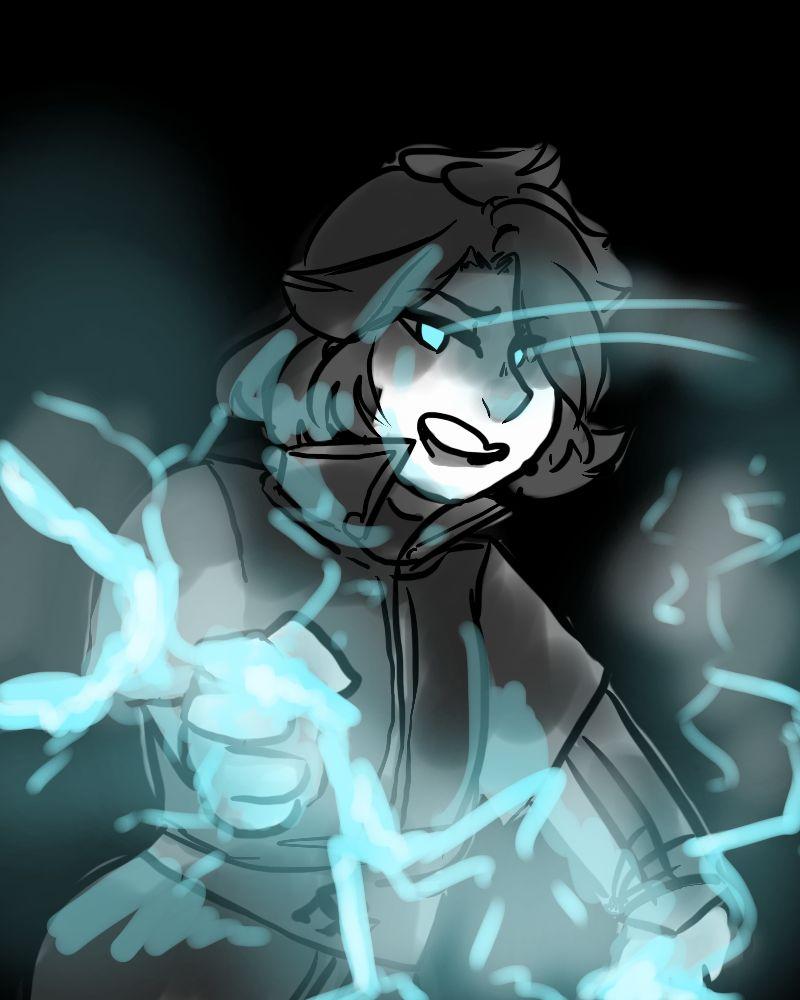 scary lightning girl by ladylu san on deviantart