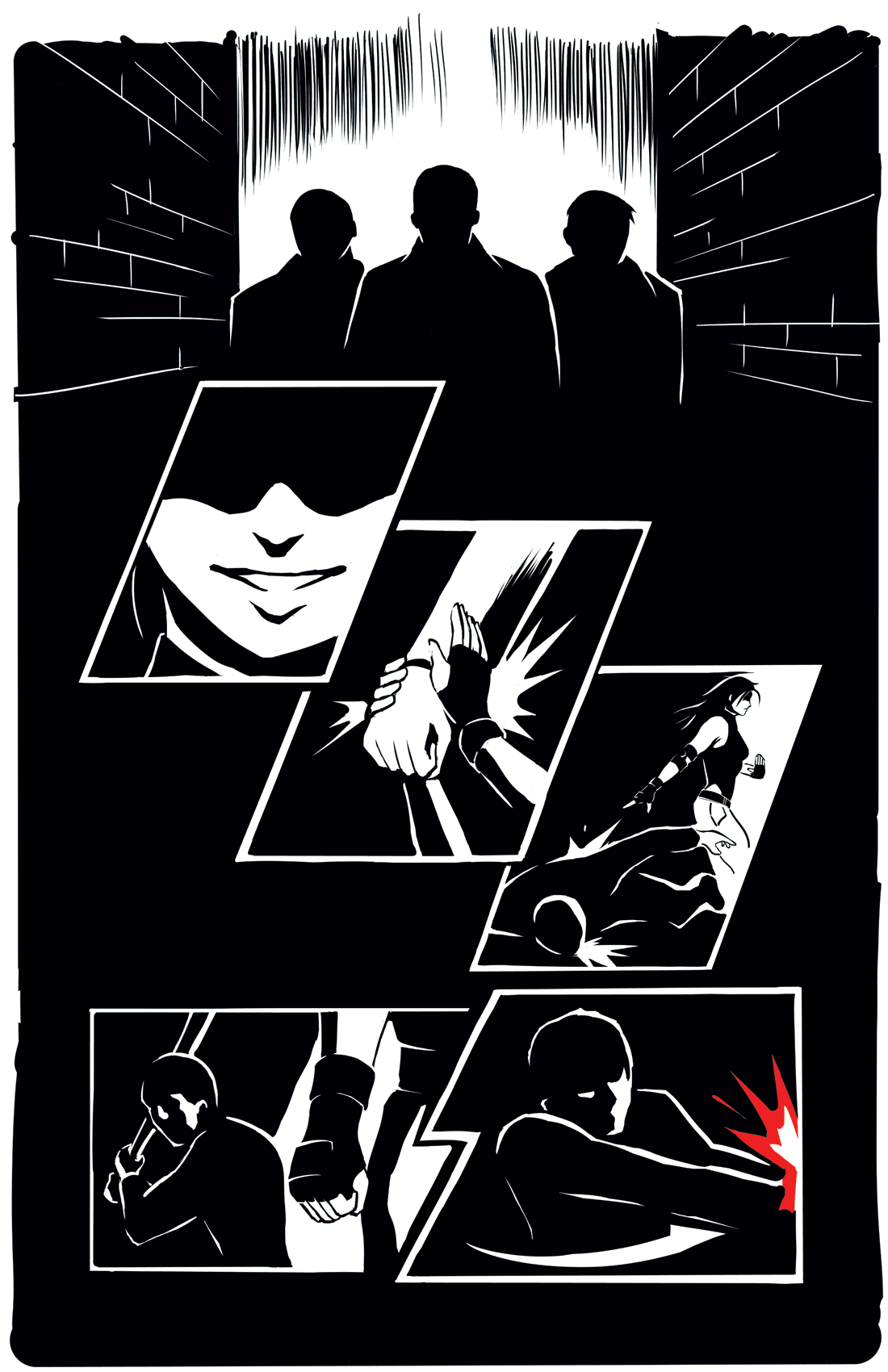 Defiance: Callista Page 1 Inks by bokchoi-al