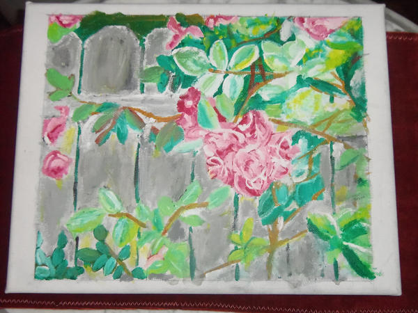 Rose Fence by KittenKagome