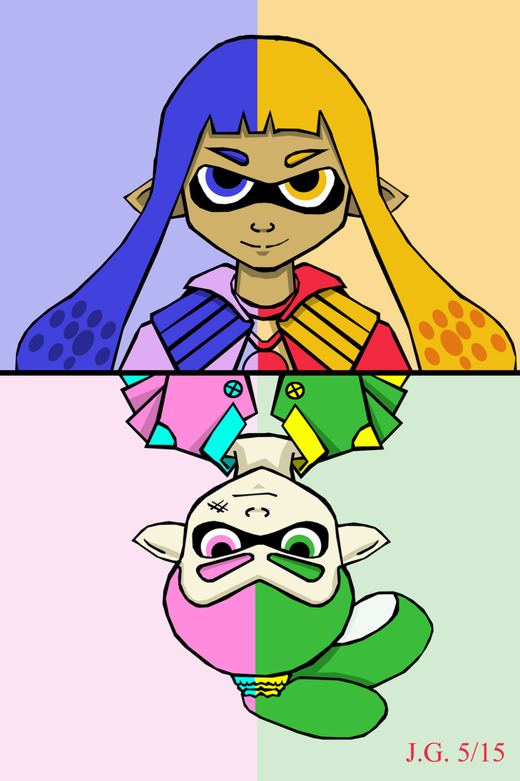 Color Split - Splatoon by KittenKagome