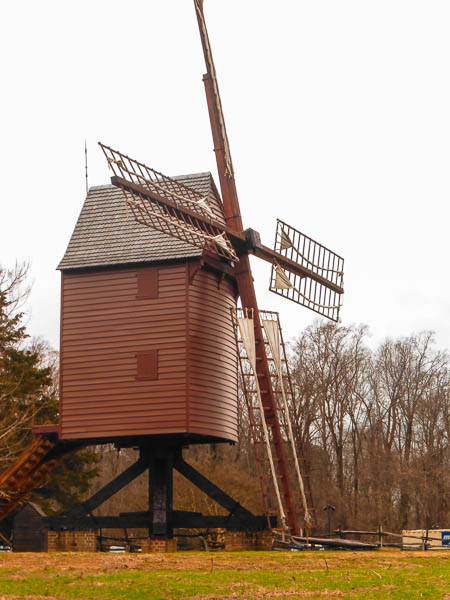 Colonial Williamsburg Christmas 2015: Windmill by KittenKagome