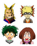 MHA: Deku, Uraraka, Bakugo and All Might