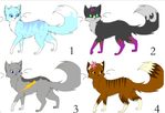 Warrior cats Adoptables- OPEN by MintFireTheCat