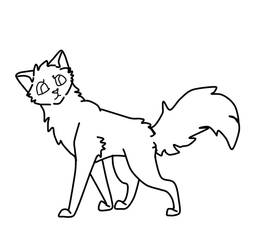 Cat lineart by MintFireTheCat