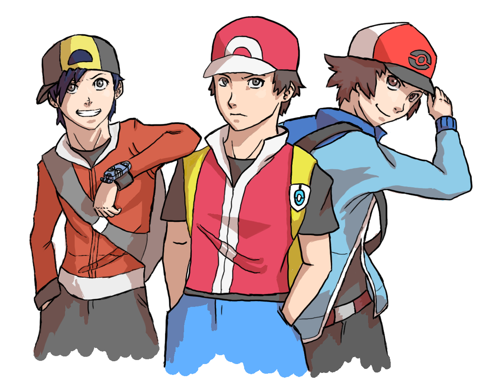 Pokemon Trainers by o0Mythius0o