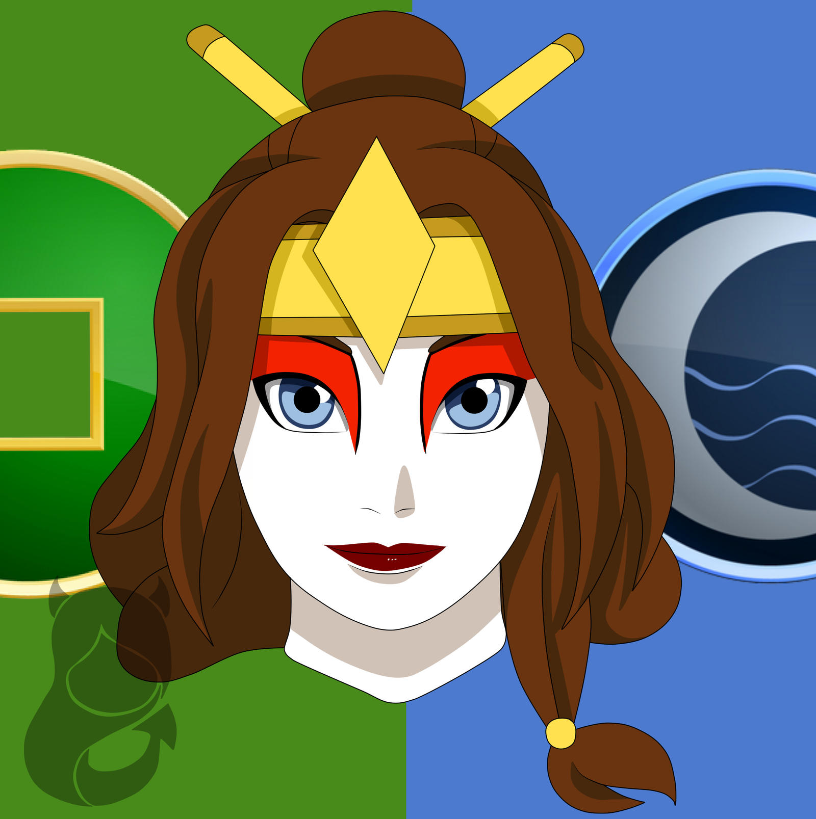 The Last Airbender Avatar Kyoshi: Kyoshi Warrior Miyu By Eleanor-Devil On