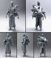 Gandam, the pilgrim by Amnoon