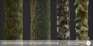 Free Photogrammetry Tile Textures - Bark Pack 02 by Amnoon