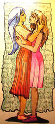 Yuri Embrace by NekoBucket