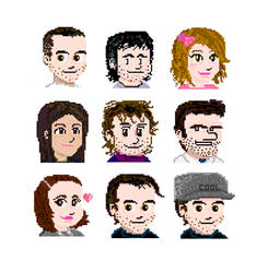 Pixelated portraits by SonicKaos