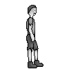 Sad Victorian London boy sprite by catapurr