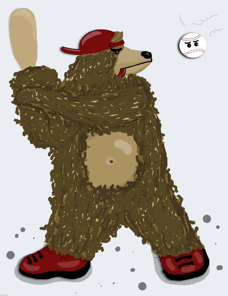 Baseball Bear by catapurr