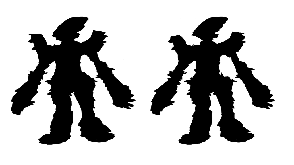Quick Mech Silhouette Sketches by catapurr