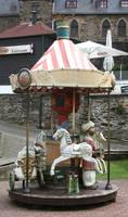 Karussell 02 old  little carousel on a castle by Nexu4