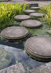 water path with round stones