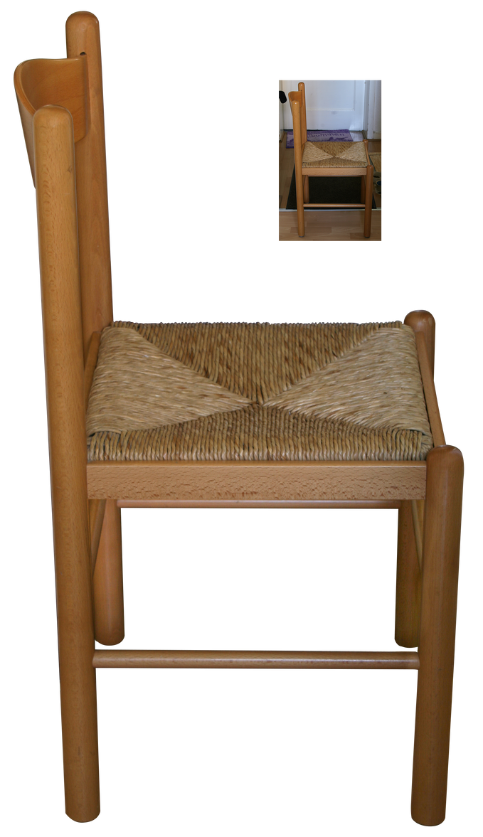 Wood Kitchen Chair With Arms
