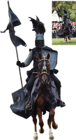 Black knight in front precut stock png