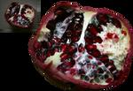 half pomedranate Granatapfel png stock by Nexu4