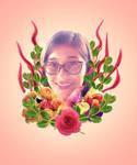 Miah's Flower Portrait
