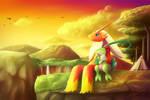The Sunset View : Commission for Akiyama64