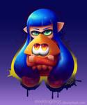 Splatoon fanart: Squiddy Cuddles