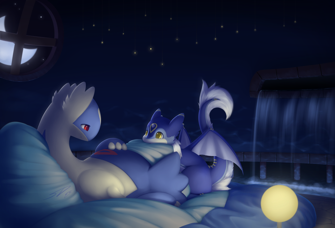 But I sleep here... : Commission for Spongepierre by streetdragon95