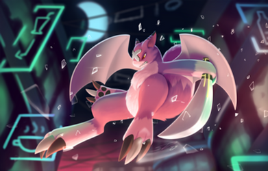The Neon Streets: Commission for YamadoruX by streetdragon95