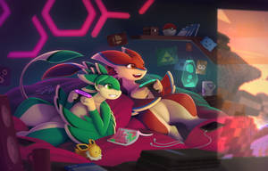 Videogame Night: Commission for Hexthegon by streetdragon95