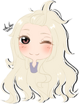 Sketch chibi headshot commission for LucyChuu 1/4 by AimiMay