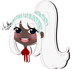 Chibi Headshot commission for PAwh-PAwh-Rose by AimiMay