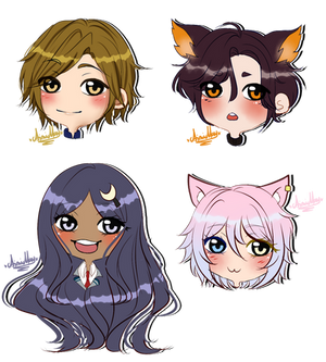Chibi Headshot Request by AimiMay