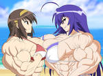 Two Powerful Girls Docking It Out