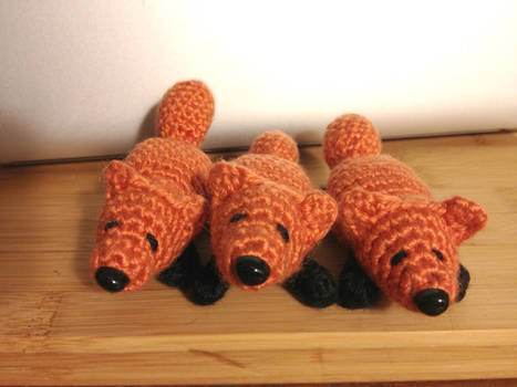 Amigurumi Foxes