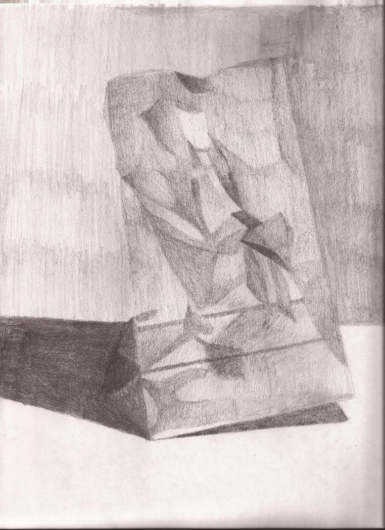 Paper bag sketch - Paper Bag Sketch By Hunter Wolfe