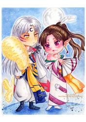 Kagura and Sesshomaru by Saayi--san