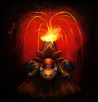 Mega Camerupt: The Mop of Wrath by Yanang