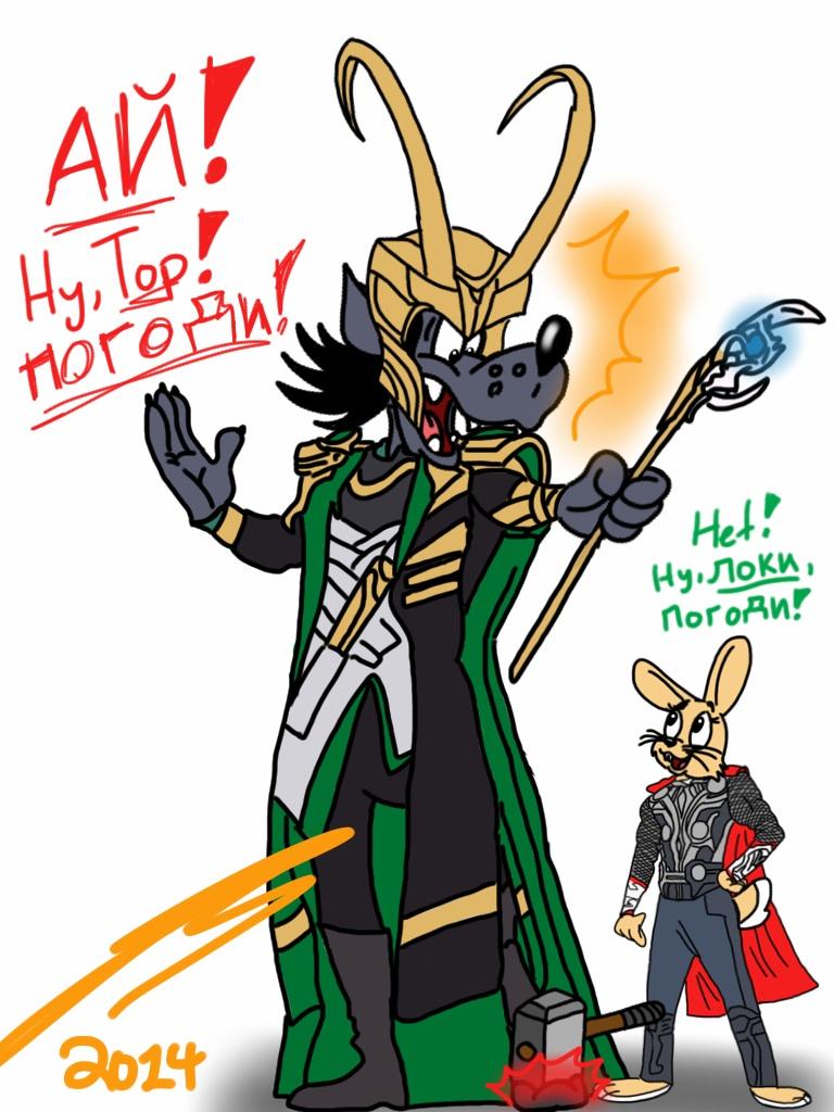 Nu, Thor, Pogodi! by Calamity-Coyote