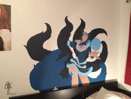 Midnight Ahri Wall Drawing by oOCrazyKittyOo