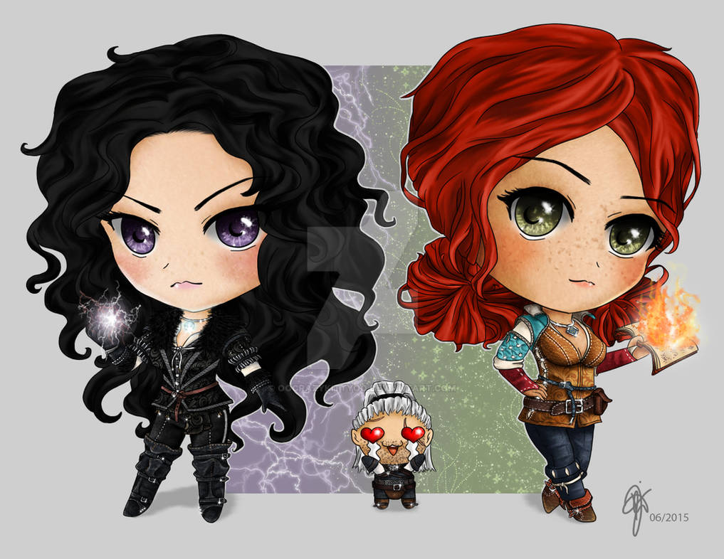 Yennefer and Triss Chibis